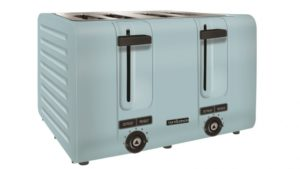 Trent and Steele 4 Slice Toaster - Blue